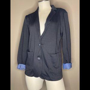 NWT Gray/Blue Cuff Crush Brand Blazer Size Small